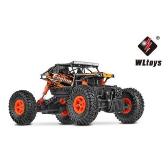 รถบังคับวิทยุ รถบังคับไฟฟ้า รถไต่หิน รถวิบากลุยโคลน ขนาด 1:18 Rock Crawler 4WD 2.4ghz (Red)
