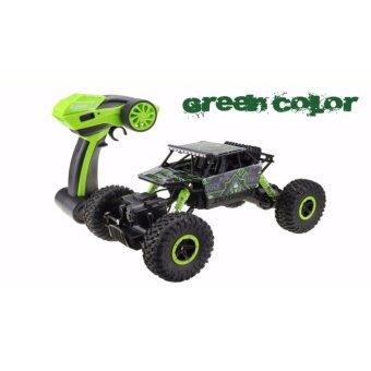 รถบังคับวิทยุ รถบังคับไฟฟ้า รถไต่หิน บังคับสุดแรงสุดมัน ขนาด 1:18 Rock Crawler 4WD 2.4ghz (Green)