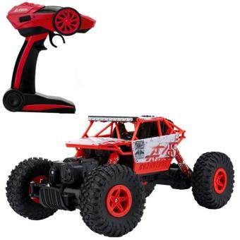 รถบังคับวิทยุ รถบังคับไฟฟ้า รถไต่หิน บังคับง่ายเล่นสนุก ขนาด 1:18 Rock Crawler 4WD 2.4ghz (Red)