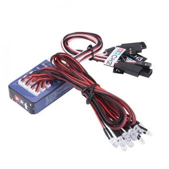 12 LED Lighting System Kit Simulation Flashing Lights for 1/10 1/8 RC Car / Truck / Crawler - intl