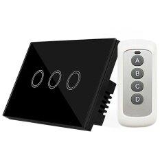 120 ประเภท Y803b รีโมทคอนโทรลไฟผนังสวิตช์สัมผัส 3 Gang Home Supplies.