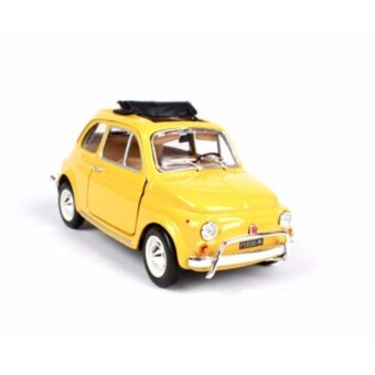 1:24th Yellow Color Car Model FIAT 1968 Vehicle 500L Model Diecast Toy - intl