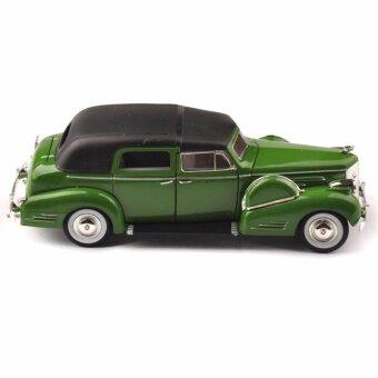 1:32 Diecast Green Classic Car 1938 Cadillac Fleetwood Vehicles Model - intl
