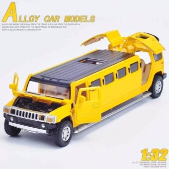 1/32 โลหะผสมโลหะ Diecast รถรุ่นสำหรับ Hummer รถ หรูหรารถบรรทุก Collection รุ่นดึงกลับของเล่นเสียง แสงประตูเปิด