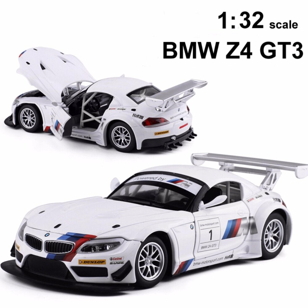 1:32 scale Z4 GT3 Coupe Toy Vehicles Model Alloy Pull Back Children Toys Genuine License Collection Gift Off-Road Car Collection – intl