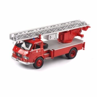1/43 Scale Diecast Red Pompiers Vehicles Ladder Fire Truck Model Collection - intl
