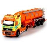ซื้อ 1 50 Scale Diecast The Tanker Vehicles Trucks Construction Cars Model Toys Yellow Intl ถูก
