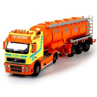 1:50 Scale Diecast The tanker vehicles Trucks Construction Cars Model Toys Yellow - intl