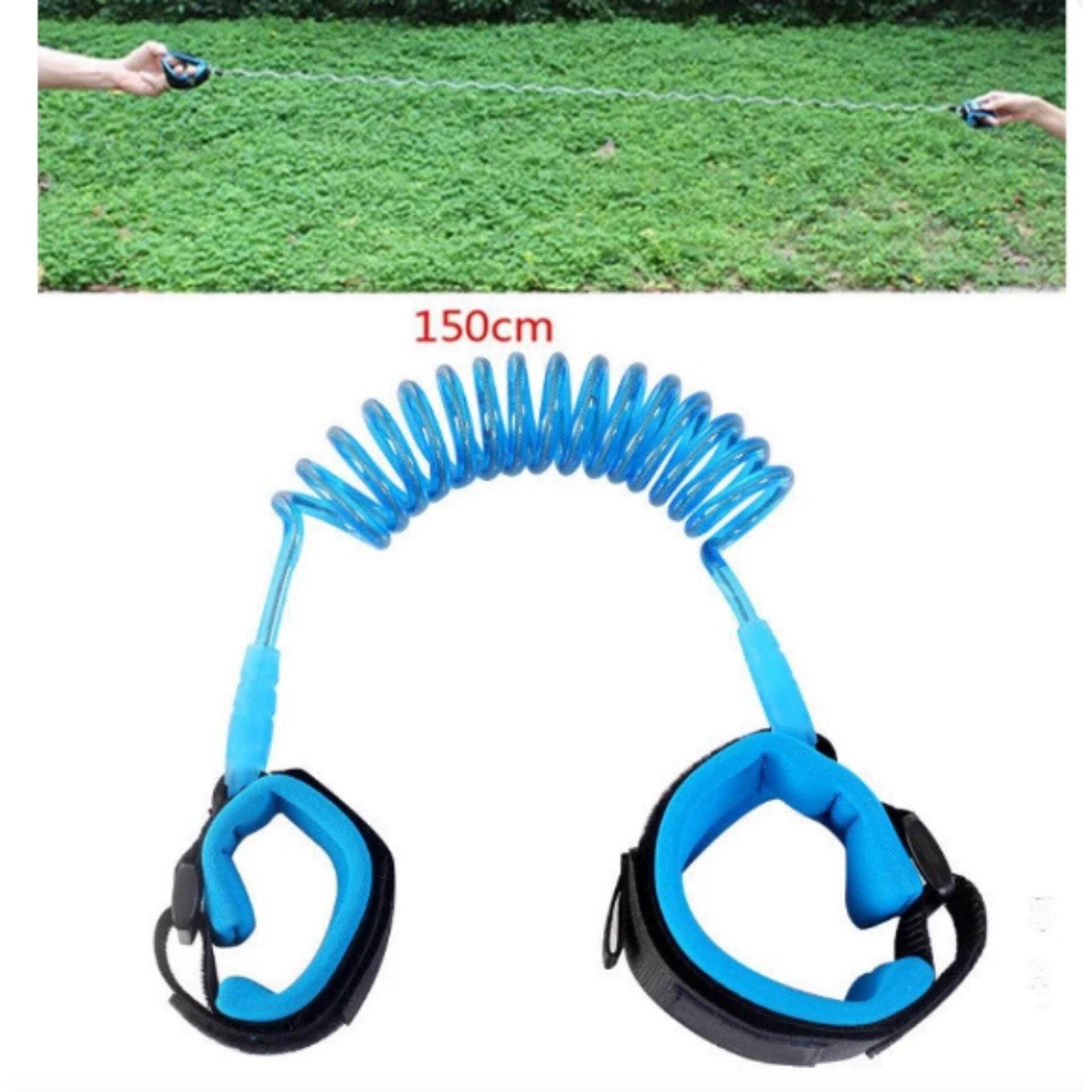ซื้อเลย 1.5m Baby Child Anti Lost Safety Wrist Link Rope Band Leash Belt with Hook and Loop Fastener for 1-12 Years Old Kids BLUE ซื้อที่ไหน - มีเพียง ฿ ...