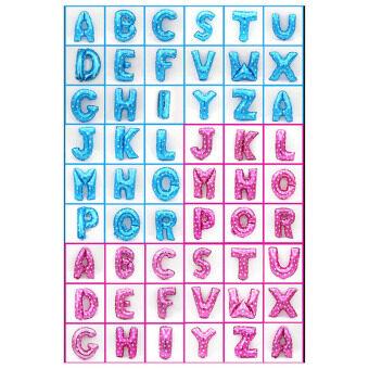 16 \ฟอยล์บอลลูน 26 ตัวอักษรตัวอักษร A-Z จัดงานเลี้ยงวันเกิดงานเลี้ยงสีชมพูเอ็ม