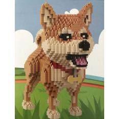 ของเล่นตัวต่อ  สุนัขพันธ์ชิบะ น้องฮารุ จำนวน 1,850 ชิ้น Babu รุ่น 8805.