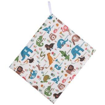 1PC 36*30cm Reusable Waterpoof Baby Wet Nappy Bag Double Zipper Closure Travel Carry Bag- #4 - intl