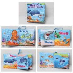1 ชิ้น Baby Early การเรียนรู้ผ้านุ่มหนังสือ Creative Squeak หนังสือเสียงของขวัญของเล่นเกมปริศนาสำหรับเด็กสไตล์: Ocean.
