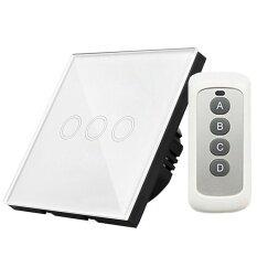 ซื้อ 1 ชิ้นสัมผัสสวิทช์ไฟผนัง Eu ปลั๊ก 3 แก๊ง Y603B ที่มีแผงกระจกนิรภัย Liplasting