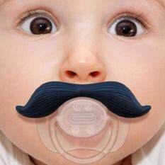 1pcs Baby Baby Silicone จุกนมหลอก จุกนมหลอกปลอมสำหรับทารกแรกเกิด (รูปหนวด).