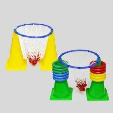 แป้นบาสเด็กเล็ก 2 ชุด พร้อมห่วงโยนลงหลัก 12 ชิ้น Basket Hoop ไทย