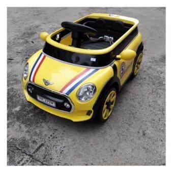 รถเด็กเล่นไฟฟ้า ใช้แบตเตอรี่ รถบังคับมีรีโมท 2ระบบ มินิคูเปอร์