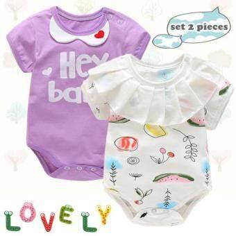 ชุดเด็กอ่อน เสื้อผ้าเด็กอ่อน บอดี้สูทเด็ก เซท 2 ชุด 3-6 เดือน 6-9 เดือน