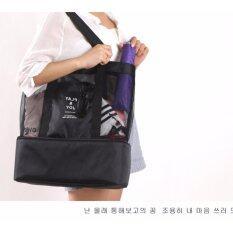 ราคา กระเป๋าเก็บอุณหภูมิ 2 In 1 เก็บความเย็น กระเป๋าเก็บนมแม่ สีดำ ใหม่