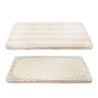 2 ชิ้นแพ็คเด็กติดตั้งแผ่นผ้าฝ้าย 100% นุ่มที่นอนทารกแรกเกิดผ้าปูที่นอนแอล 140x70 เซนติเมตร - นานาชาต-