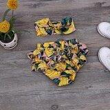 โปรโมชั่น 2 Pieces Baby S European And American Cute Creative Flower Shorts Yellow Intl จีน