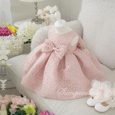 ขาย 2016 New Summer Princess Girls Party Dress Dinner Prayer With Pink Tulle Wedding Dress Shirt Girls Intl ใหม่