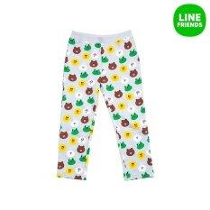 ทบทวน ที่สุด 2016 S S Girls 100 Cotton Knit Pants Pajama Friends Lgr 3Yr