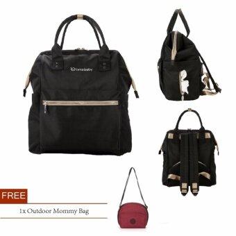 Lekebaby 2017 Fashion Diaper Tote Bag Diaper Backpack-Small (Black)
