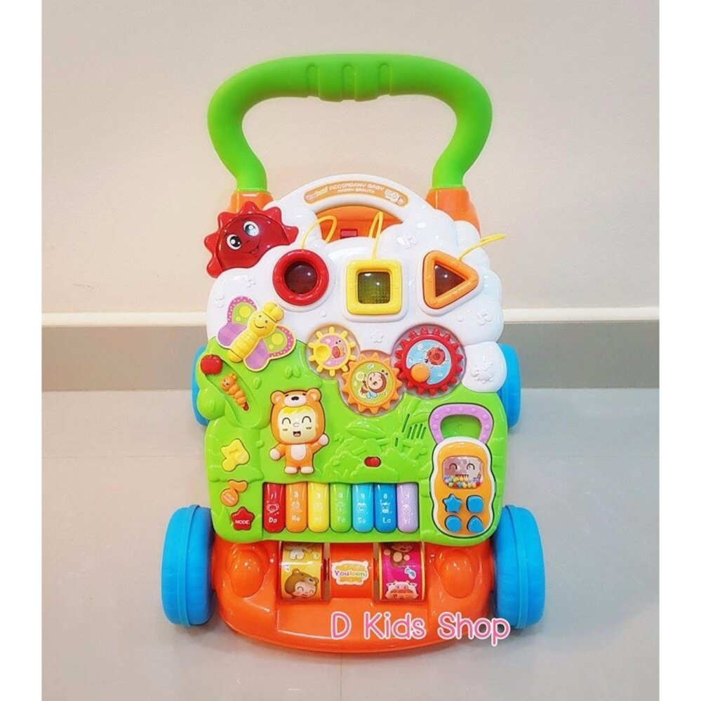 แนะนำ ของเล่น รถผลักเดินเด็ก รถหัดเดิน ปรับหนืดได้ รถผลักเดินเจ้าหมีดนตรี 2in1 Bear Piano Walker ของเล่นเด็ก