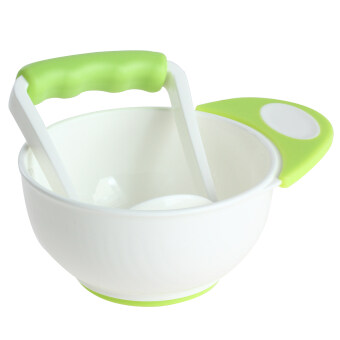 2pcs Baby Utensils Bowl with Grinding Tool (Green)