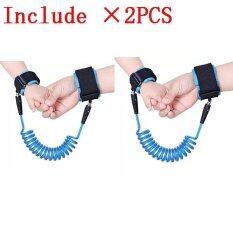 ซื้อ 2Pcs Haotom Baby Child Anti Lost Safety Hook Loop Fastener Wrist Link Rope Band Leash Belt For 1 12 Years Old Kids Blue Haotom ถูก