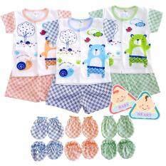 ทบทวน ชุดเด็กแรกเกิด 3 เซ็ท แถมฟรี ชุด ถุงมือถุงเท้า 3 คู่ Baby Heart