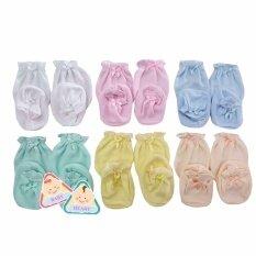 ขาย ถุงมือถุงเท้า เด็กอ่อนแรกเกิด 3 เดือน จำนวน 6 ชุด Baby Heart ออนไลน์