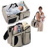 ขาย 3 In 1 Diaper Bag Travel Bassinet Change Station Cream Multi Purpose Baby Diaper Tote Bag Bed Nappy Infant Carrycot Crib Cot ถูก จีน
