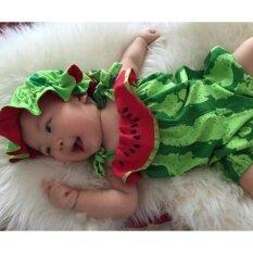 ชุดแฟนซีเด็ก ลายแตงโม พร้อมหมวกเข้าชุด 3 เดือน ถึง ขวบครึ่ง Wml01 ใหม่ล่าสุด