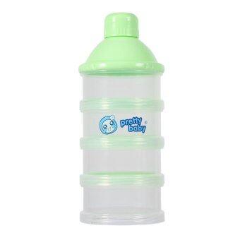 4 Layers Portable Baby Milk Powder Formula Dispenser Food Candy Storage Case (Green) - intl