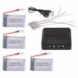 ราคา 4Pcs 3 7V 700Mah 25C Lipo Battery 4 Port Charger For Syma X5C X5A F5C Cheerson Cx 30 Cx 31 Drone Unbranded Generic