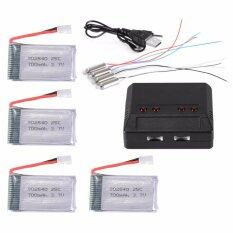 4Pcs 3 7V 700Mah 25C Lipo Battery 4 Port Charger For Syma X5C X5A F5C Cheerson Cx 30 Cx 31 Drone Unbranded Generic ถูก ใน Thailand