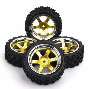 4Pcs Set RC Rally Racing Off Road 1:10 Rubber Tires Wheel Rims PP0040+PP0487 - intl