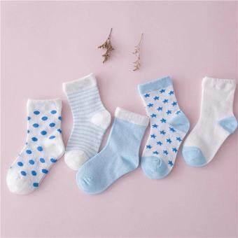 5 คู่เดียวกันสีที่แตกต่างกันประเภทของถุงเท้าสำหรับเด็กชายหญิง - ขนาดเอ็ม - นานาชาติ-