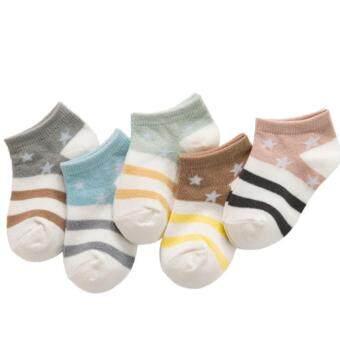 ถุงเท้าเด็กข้อสั้นหลากสี 5 คู่ Size S อายุ 0-1 -ขวบ