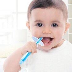 ซิลิโคนแปรงสีฟันเด็ก สำหรับเด็กวัย 6 เดือน ถึง 2 ปีขึ้นไป By Allnice.