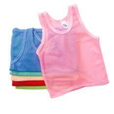 ขาย เสื้อกล้ามมีรู ใส่สบาย ระบายอากาศได้ดี คละสี 6ตัว ผู้ค้าส่ง