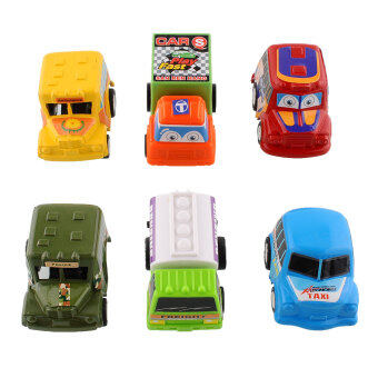 6 Classic BoyGirl Truck Vehicle Kids Child Toy Mini Small Pull Back Car Racer