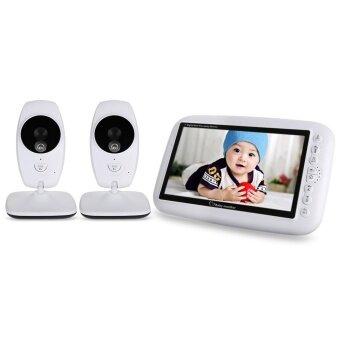 7.0 นิ้ว 2.4 กิกะเฮิร์ตซ์ไร้สาย TFT จอแอลซีดี 2 กล้องวิดีโอสำหรับเด็กนิ้วพร้อมอินฟราเรดกลางคืน (สีขาว) -นานาชาติ