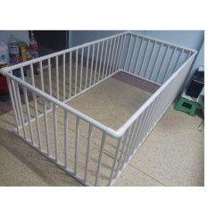 ขาย คอกกั้นเด็ก Aa002 สีขาว ขนาด 100X200X65 ครอบที่นอน 3 5 ฟุต ถูก ใน กรุงเทพมหานคร