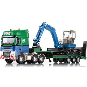 Alloy Car Models Excavator Flatbed Trailer Model Children's Toys