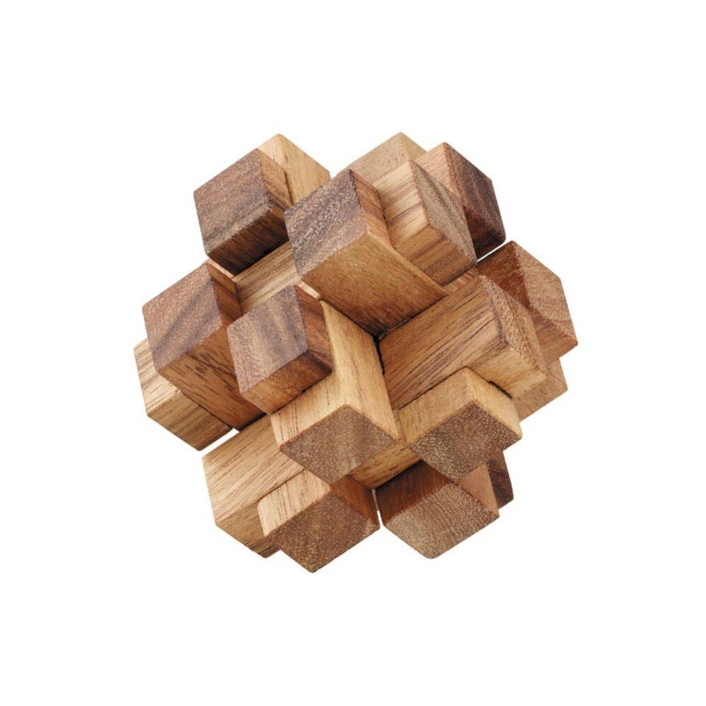 Ama-Wood ของเล่นไม้ ไม้บาก (3D Square Cube Wooden Puzzle)