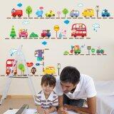 ซื้อ Animals Cars Bus Wall Sticker Removable Baby Room Vinyl Mural Decor Intl ใหม่
