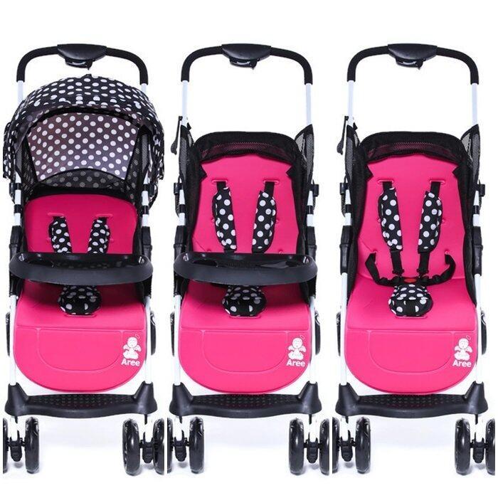 คูปอง ส่วนลด เมื่อซื้อ Unbranded/Generic รถเข็นเด็กแบบนอน BabyBoom รถเข็นเด็ก พับได้ น้ำหนักเบาเพียง 4.9 กิโลกรัม ได้ทั้งนั่งและนอน สำหรับ 3-36 เดือน แบบใหม่ 2018 รีวิวดีที่สุด อันดับ1
